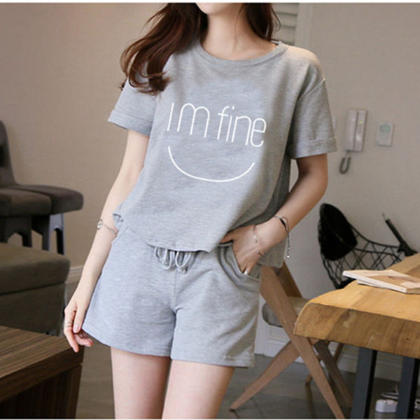 Summer New Casual Pajamas For Women Summer Milk Silk two-piece Cute Short Sleeved Shorts For Women In Residence Suit