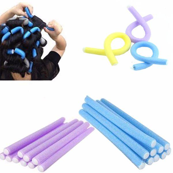 10X Soft Foam Curler Bendy Twist Curly Hair DIY Makers Styling Hair Rollers