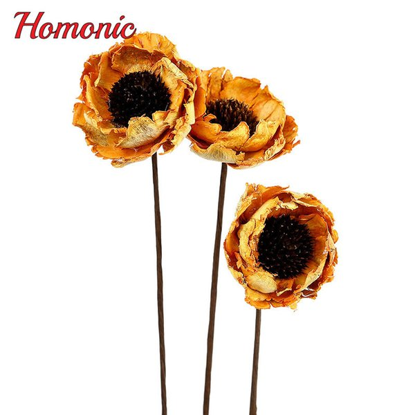2019 Hot Sale wholsale 5pcs Corn Poppy Handmade Natural Plant Party Office Home Room Decorative Dried Flowers