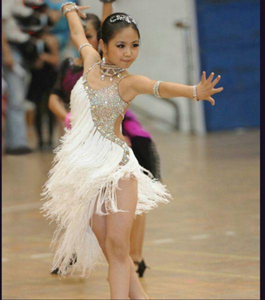 Children's Latin dance dress new style tassel summer girls' Dance Costume Infant competition performance clothing training suit