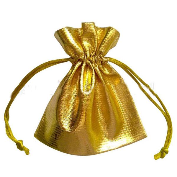 San Valentino Pacco di gioielli in oro Pacco in oro Nastro di lamina Organza Candy Orecchino sacche loot packing Imballaggio di articoli da regalo Sacchetti regalo ornamento borsa f