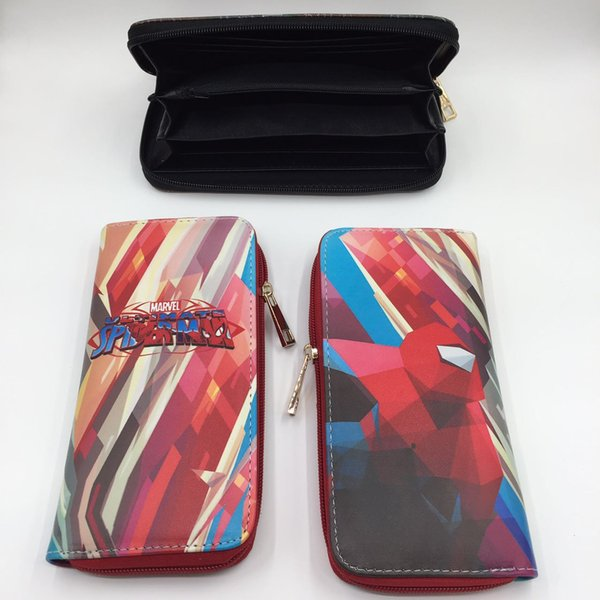 Spider-Man Cool Design Long Wallet Adventure Time Men Women Leather Purse Harry Potter Card Holder Money Bag for Cosplay Gift