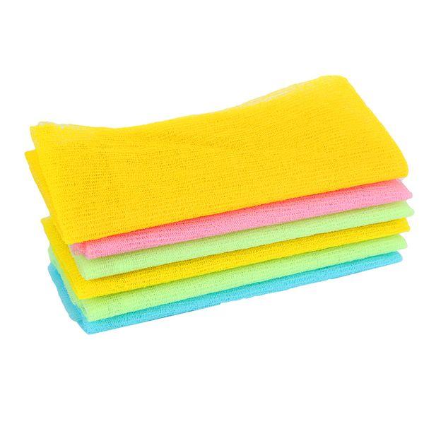 Nylon Japanese Exfoliating Beauty Skin Bath Shower Wash Cloth Towel Back Scrub Multi Colors 3 Colors