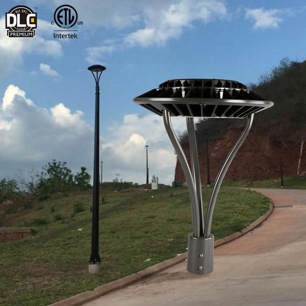 Etl Dlc Modern Pathway Landscape Post Top Street Lamp 50w 75w 100w 170w Parking Lot Lights Outdoor Led Garden Lighting Pole Lights Fixtures