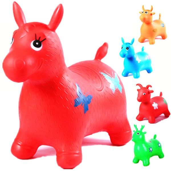 Le cheval gonflable animal joue le videur gonflable sautant l'enfant en caoutchouc gonflable bébé 60 * 52 * 28cm au hasard