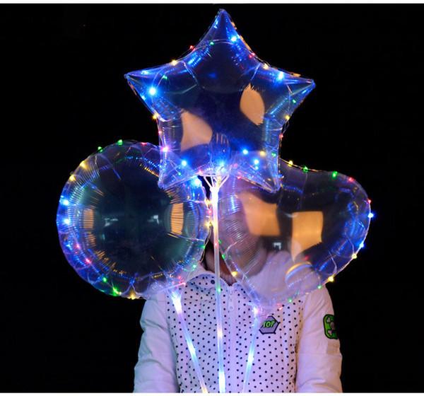 Palloncini gonfiabili a LED Palline per bomboniere in lattice Pallone aerostatico per feste Decorazione natalizia Ornamento Palloncino chiaro romantico T1I189