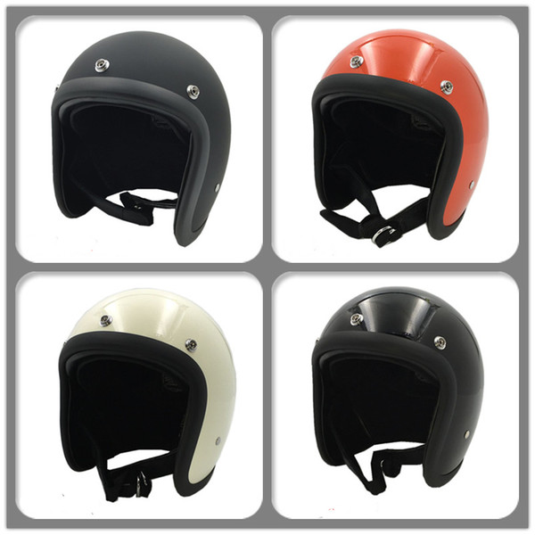 top popular Motorcycle open Face helmet FRP Fiberglass 3 4 retro Vintage Motorbike scooter street moto cross casco safe protective bike bicycle helmet 2021