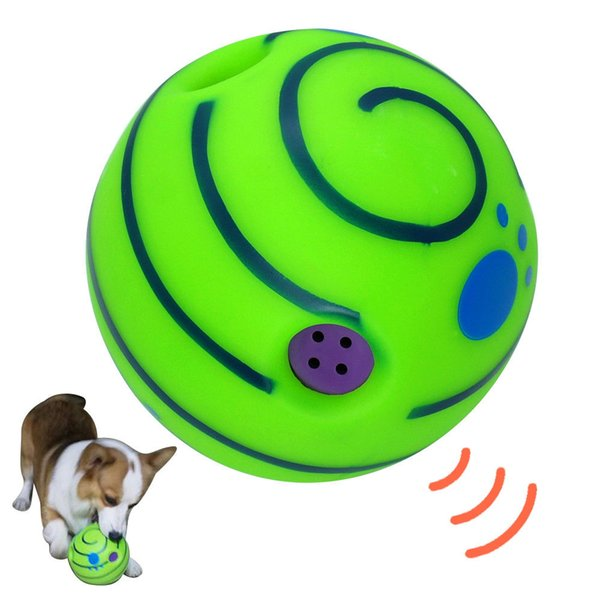 15cm Wobble Wag Giggle Ball Dog Play Ball Training Tool Sport Pet Cat Puppy Toys With Funny Sound AAA827