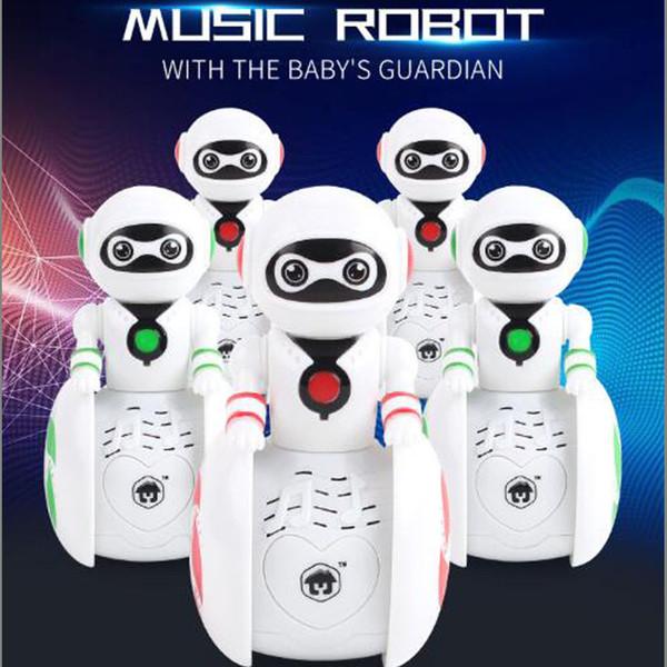 Bebé encantador Inducción Educativa Inteligente Mini Robot Mascotas Electrónicas Tumbler Inteligente Niño Niños Niños Juguete Mejor Regalo con Luz Sonora