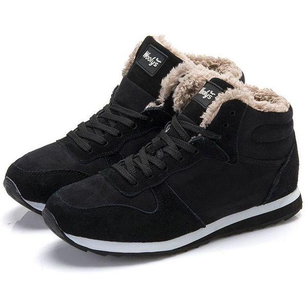 Men's Winter Shoes Keep Warm Snow Shoes Men Plush Couple Sneakers Fashion Men's Female Casual