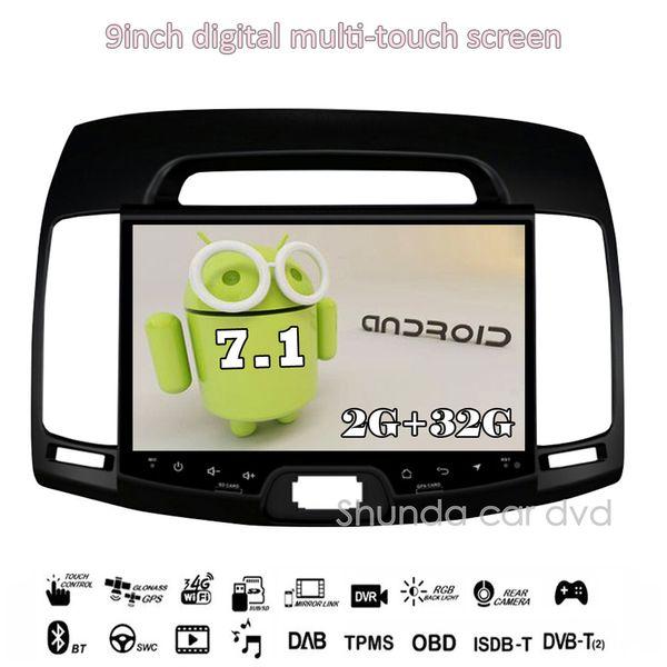SHUNDA HD 9inch Android 7.1 T3 Car DVD player for Hyundai Elantra 2007-2011 with GPS 3G 4G WIFI BT RDS Radio Navigation Map