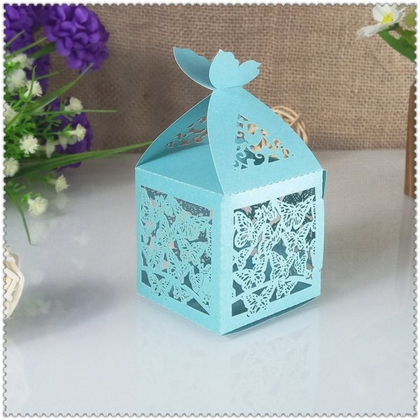 30pcs butterfly design candy box wedding romantic gift bag ribbon decoration supplies Christmas party gift box 5ZT30