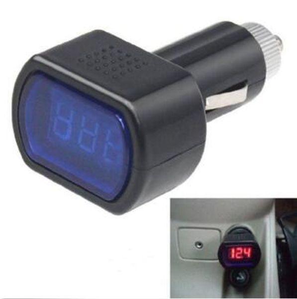 Più nuovo Portatile Digitale Monitor Auto Volt Voltmetro Tester LCD Cigarette Lighter Voltage Panel Meter Strumenti di Diagnostica CCA10351 400 pz