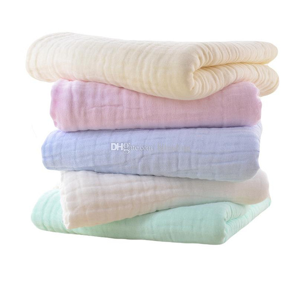 Infant Towels Soft Six layers cotton Baby handkerchief kids Bibs Washcloth Wipes 5 colors 30*30cm Autumn winter thick gauze C5388