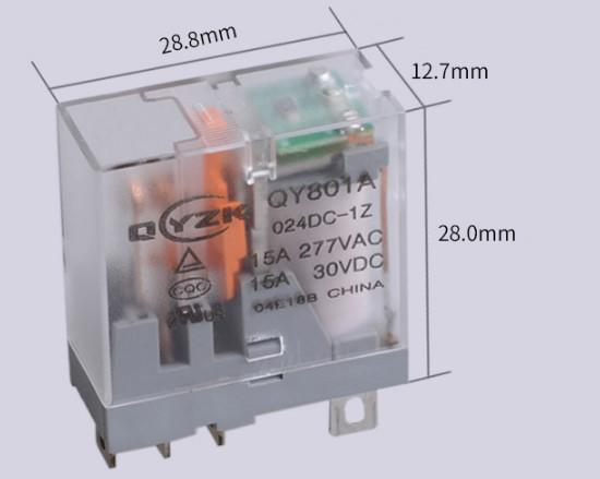 Electronic Accessories & Supplies Miniature Intermediate Relay with 5-pin Switching Relay for 24V15A Relay Mechanical Equipment