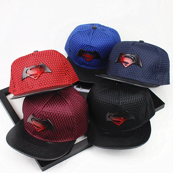 242a532b7a6 Mix color Summer Batman Baseball Cap Hat For Men Women Casual Bone Hip Hop  Snapback Caps Sun Hats