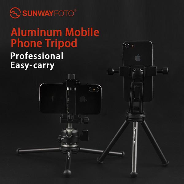 SUNWAYFOTO T1A11 II Profissional Mini Tablet-Tischstativ für Mini-Kamera-Smartphone-Stativ DLSR mit Montagezubehör