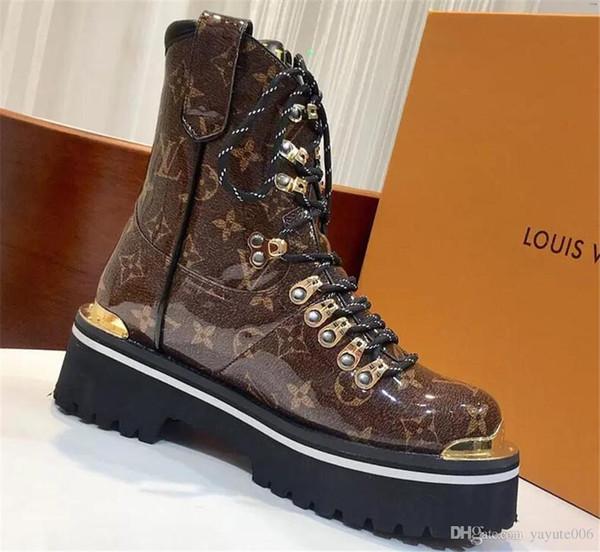 18ss Lüks tasarımcı marka erkek ayakkabı Özel sınıf Bir mat dana İtalyan Deri tabanı Trend moda erkek rahat ayak bileği çizmeler