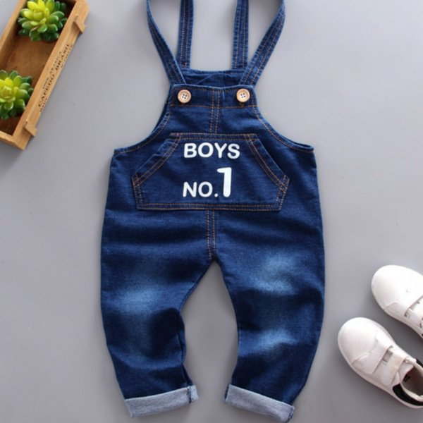 2018 Printemps et Automne Garçons et Filles Ceinture en denim Pantalon Fashion Letters Jean simple Jean d'enfants jeans ensemble Cowboy jeans