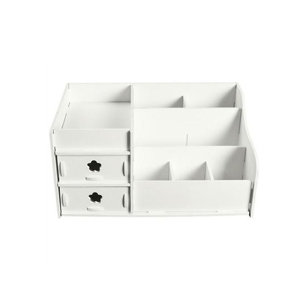 Organizzatore di rack di caso di scatola di immagazzinaggio di gioielli di trucco cosmetici di stile di cassetto di plastica