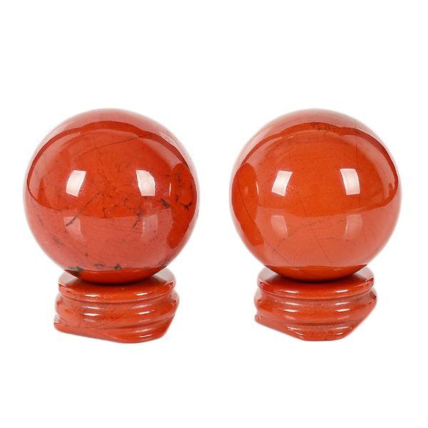 1 pcs 3-4 cm Natural Crystal Red jasper and green east mausoleum ball Spheres healing rainbow gemstone balls + stand FREE SHIPPING+pedestal