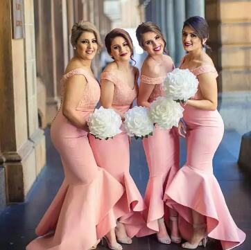 2017 New Arabic Sweetheart Off the Shoulder Bridesmaid Dresses Backless Lace Bodice High Low Dubai Ruffle Skirt Maid of the Honor Gowns