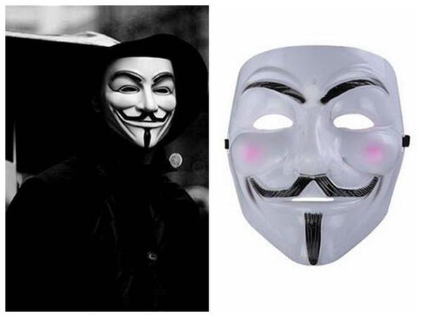 Venta al por mayor V Para Vendetta Máscara Tema de la película de terror de Halloween Máscara V Para Vendetta V Máscara Custume Masquerede Cara Envío libre barato