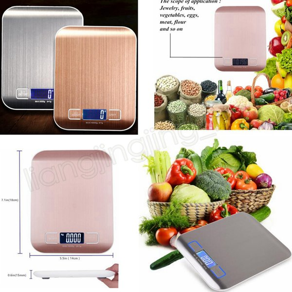 5KG pantalla etekcity cocina digital multifunción escala de acero inoxidable escala de balanza de cocina escala de cocina GGA541