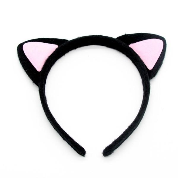 Plush Cat Animal Ears Headband Children Adults Fox Ear Hairband Birthday Party Hair Accessories