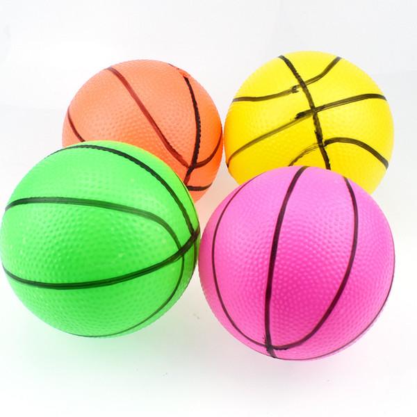 10 cm Şişme Top Oyuncak Çocuklar Kauçuk Kabarcık Basketbol Küçük Kapalı Açık Oyuncak Top Boys Çocuklar için