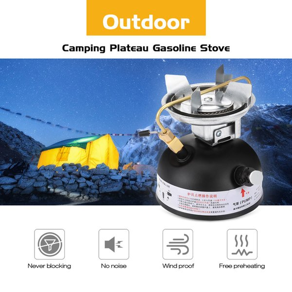 Outdoor Gasoline Stove 500ml Oil Stove Burners Camping Equipment Non Preheating Sound Proof Oil Stove Burner Cookware