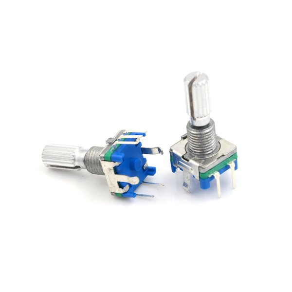 5pcs/lot 5Pin Original, Rotary Encoder, Code Switch/ EC11/ Digital Potentiometer With Switch Handle Length 20mm