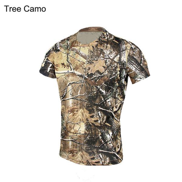 2016 Summer Combat Tactical T-Shirts Camo Short Sleeve Top Men T Shirt Hunting Clothes GZ340069