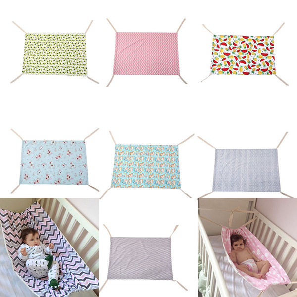 Baby Floral Unicorn Printed Hammock Newborn Portable Removable for Boys Girls Bed Infant Summer 100*70CM Cradles 7 colors Bassinets C4070