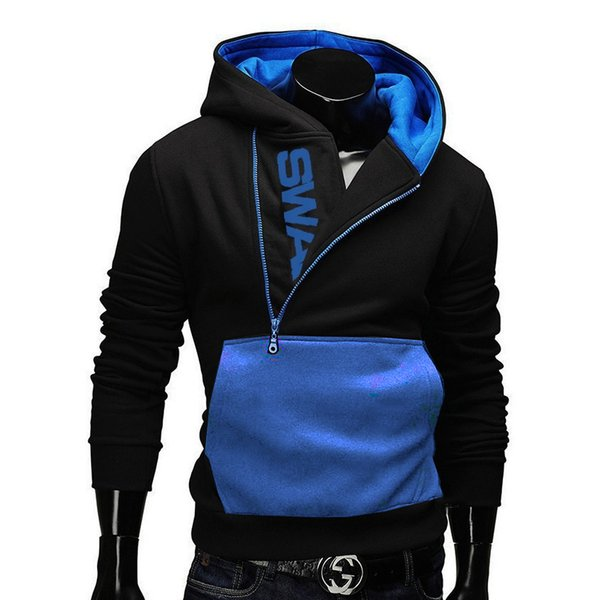 SWAG Men Brand Pullover Letter Print black winter autumn Hoodie Sweatshirt Tracksuit male cutton down Jacket Coat clothing