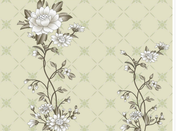 Custom Any Size Mural Wallpaper 3D Wallpaper Hand Drawn Flower Square Pattern Photo Wall Paper 3D Home Decor Living Room Wall Covering