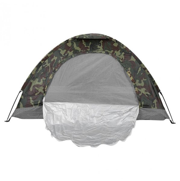Outdoor Portable Single Layer Camping Tent Wigwam Camouflage 2 Person Waterproof Lightweight Traveling Beach Fishing HuntingTent