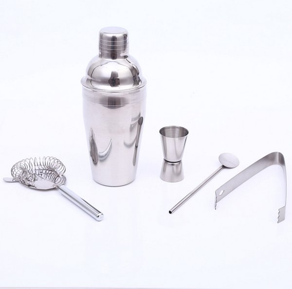550ml Practical Stainless Steel Cocktail Shaker Mixer Drink Bartender Kit Bars Set Tools Eco-Friendly Bar Sets