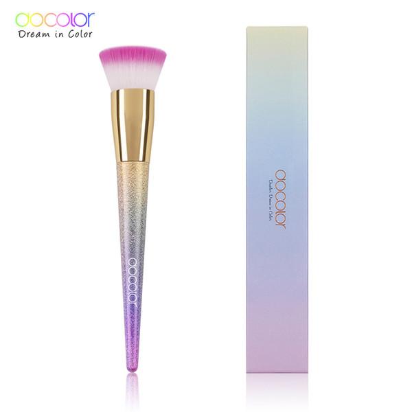 Docolor 1PCS Foundation Brush Flat the Portable BB Cream Makeup Brush Top Base Liquid Cosmetic Professional Beauty Tools