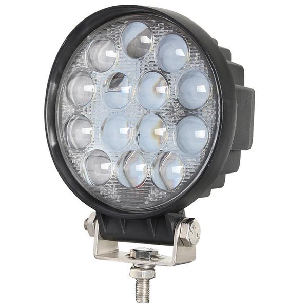 4 Polegada 27 W 42 W 48 W Rodada LED Trabalho Luz Holofotes Condução Para Offorad Caminhões Trator SUV 4WD Barco de Emergência Nevoeiro lâmpada de 24 V