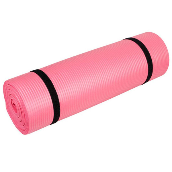 15mm 8mm Thick NBR Pure Color Anti-skid Yoga Mat Fitness Home Exercise Blue Pink US Stock