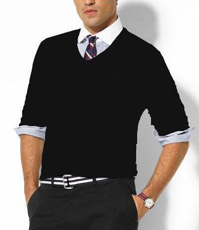 Ральф мужчины Поло свитера новый 2018 трикотаж пуловер маленькая лошадь высокое качество одежды американская мода мужской повседневная свитер серый S-XXL