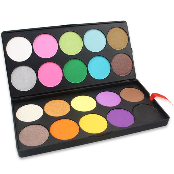 SP20 - 20 color combination double eye shadow combination plate cold and warm color with makeup disk
