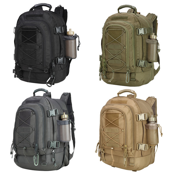 39-64L Military 3 Day Expandable Tactical Backpack Large Backpack Water Resistant for Outdoor Activities, Travel, Dialy Life (Plain)