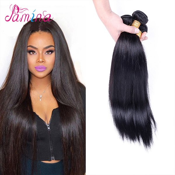 PAMINA Filipino Virgin Hair Straight 3pcs Annabelle Hair 8A Unprocessed Virgin Filipino Human Hair Weave in Natural Color Dyeable 8~30""