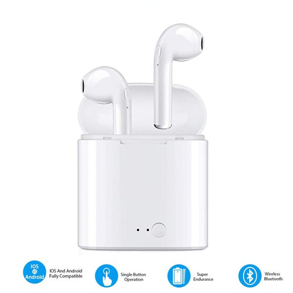 Bluetooth Earbuds Wireless Earphones V4.2 Mini Headphones in-Ear Stereo Sound Sweatproof Headsets for iPhone iOS Android Driving Sports