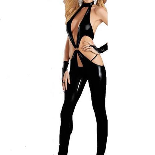 catwomen Hot Sale Latex Catsuit bodysuit Crotchless Sexy Lingerie Stripper Cothes Catsuit Teddy Lingerie Dance Costume Shower