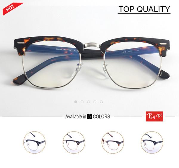 best selling 2019 Designer Brand Club eyeglass Master Men prescription frame Women Semi Rimless Retro eyewear Oculo De Sol Feminino retro clear lens 5154