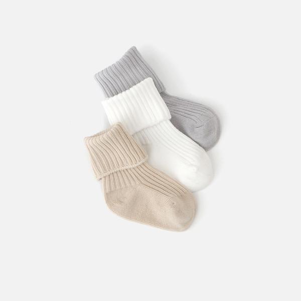 Autumn Baby Socks Coon Newborn Socks Winter Coon Loose 0-1-3 Years Old Baby Soft Socks 3 Pais
