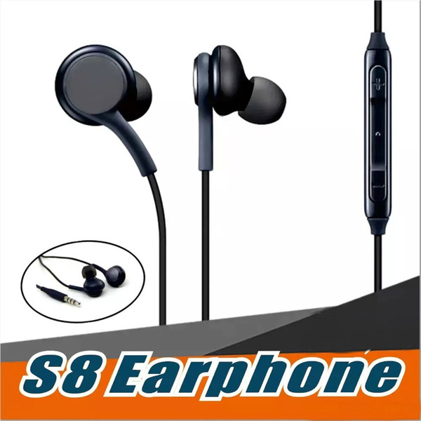 For Samsung GALAXY S8 S8+Plus Stereo Sound Earphone Earbuds High Quality  Earphones With Wired In Ear Headset No Logo OM P5 Wireless Headset Best